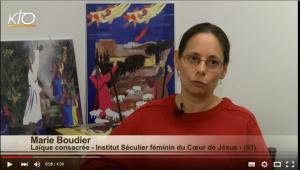 Marie Boudier, membre de l'Institut séculier du Coeur de Jésus
